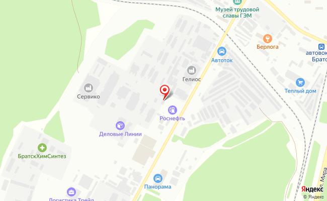 Карта расположения пункта доставки DPD Pickup в городе Братск
