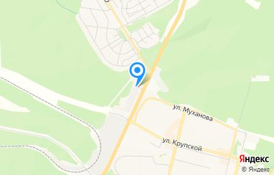 Местоположение на карте пункта техосмотра по адресу Иркутская обл, г Братск, гск Север, д 23