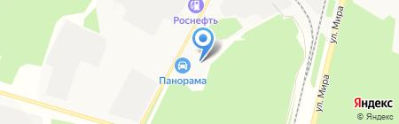 АМК на карте Братска