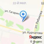 Братская городская больница №5 на карте Братска
