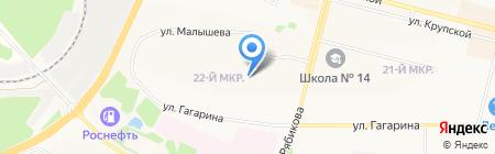 Средняя общеобразовательная школа №40 на карте Братска