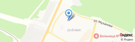 Магнит на карте Братска