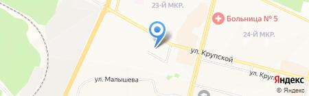 Бухгалтерская фирма на карте Братска