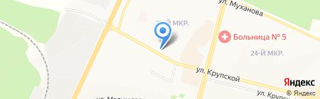 Точка на карте Братска