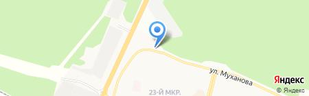Шанар на карте Братска