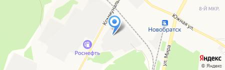 Владимирский на карте Братска