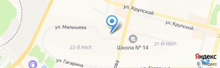 Кассандра на карте Братска