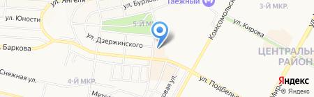Отдел полиции №1 Управления МВД РФ по г. Братску на карте Братска