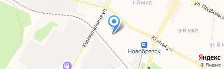 Автомойка на Южной на карте Братска