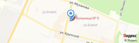 Канкор на карте Братска
