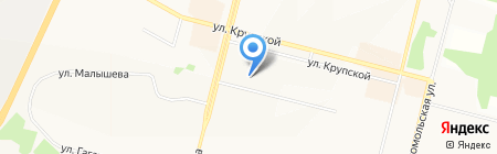 Детский сад №105 Брусничка на карте Братска