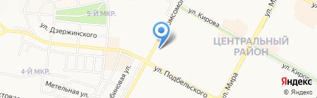 Золотой гребешок на карте Братска