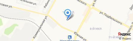 Город на карте Братска