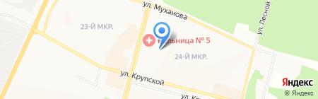Мельница на карте Братска