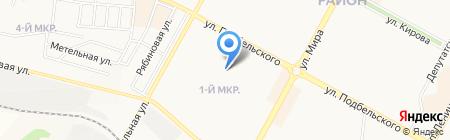 Детский сад №40 Солнышко на карте Братска