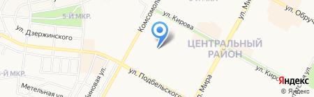 Детский сад №51 Жарок на карте Братска