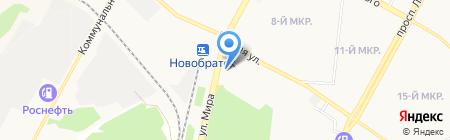 Автолада на карте Братска