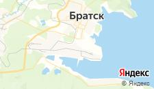 Гостиницы города Братск на карте