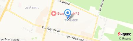 Лицей №2 на карте Братска
