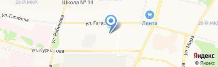 Братское троллейбусное управление на карте Братска