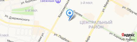 СДЮСШОР на карте Братска