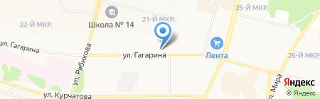 Почтовое отделение №24 на карте Братска