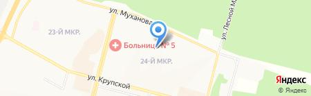Детский сад №115 Подснежник на карте Братска