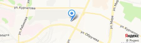 Охрана МВД РФ по Иркутской области на карте Братска