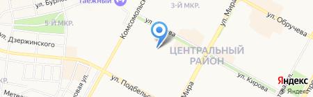Владимир и Людмила на карте Братска