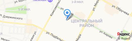 БуланЖери на карте Братска