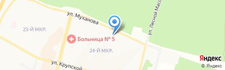 Адвокатский кабинет Калашниковой Е.В. на карте Братска