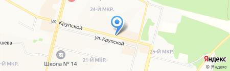 Янта на карте Братска