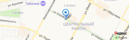 Шторка на карте Братска