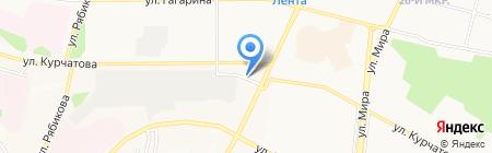 Zолотая Dолина на карте Братска