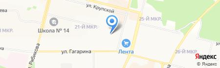 Детский сад №97 на карте Братска