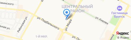 Автомобилист на карте Братска