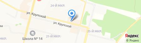 А-Турс на карте Братска