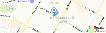 Арго на карте Братска