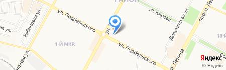 Братск-Иркутск на карте Братска