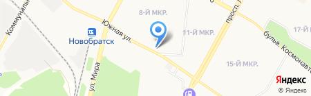 Русский фейерверк на карте Братска