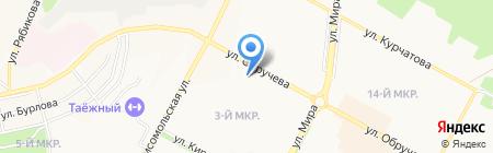 Белореченское на карте Братска