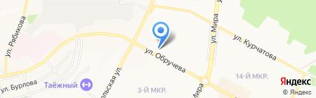 Байкальский Банк Сбербанка России на карте Братска