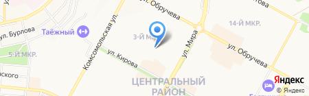 Детский сад №57 Малинка на карте Братска