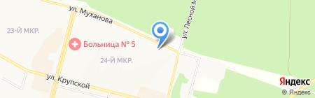 Дубравушка на карте Братска