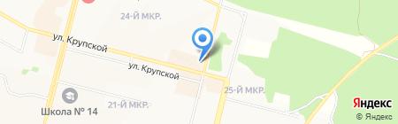Булочная №16 на карте Братска