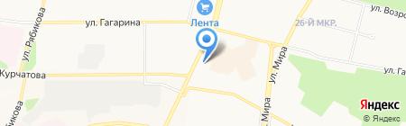 Узген на карте Братска