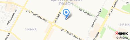 Братский экспресс на карте Братска