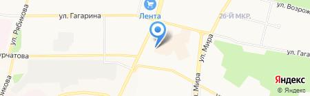 Мурзик на карте Братска