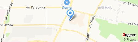 Конфеты на карте Братска