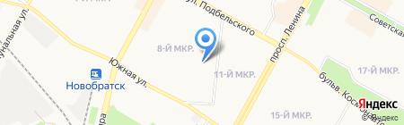 Рубеж на карте Братска